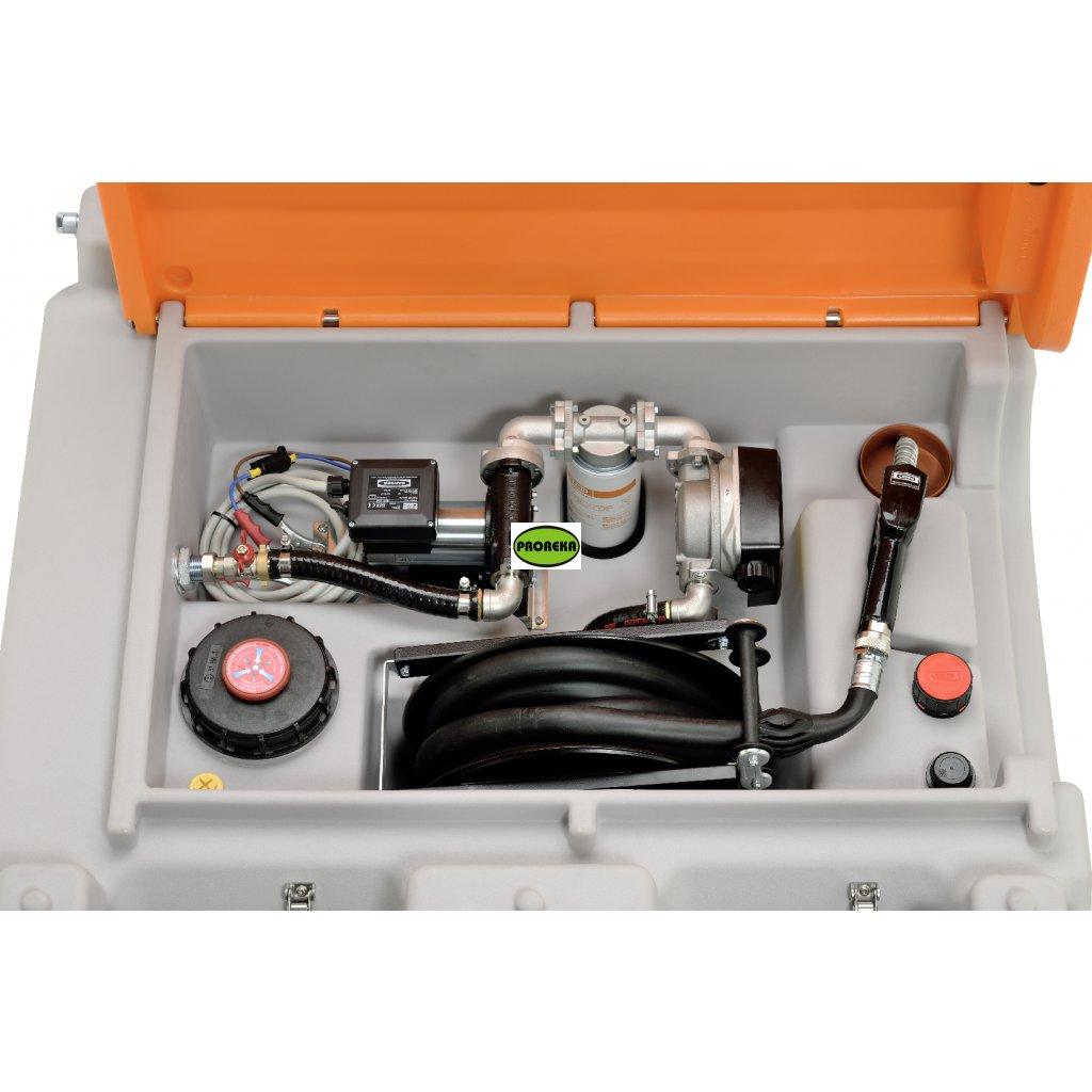 DT-MOBIL Easy mobilní nádrž, 980 l PREMIUM, Cematic Duo 24/12 V