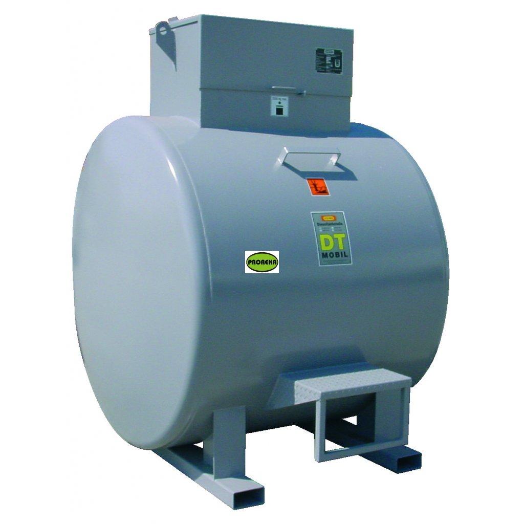 Ocelová mobilní nádrž na naftu 3000 litrů (venkovní i vnitřní použití)