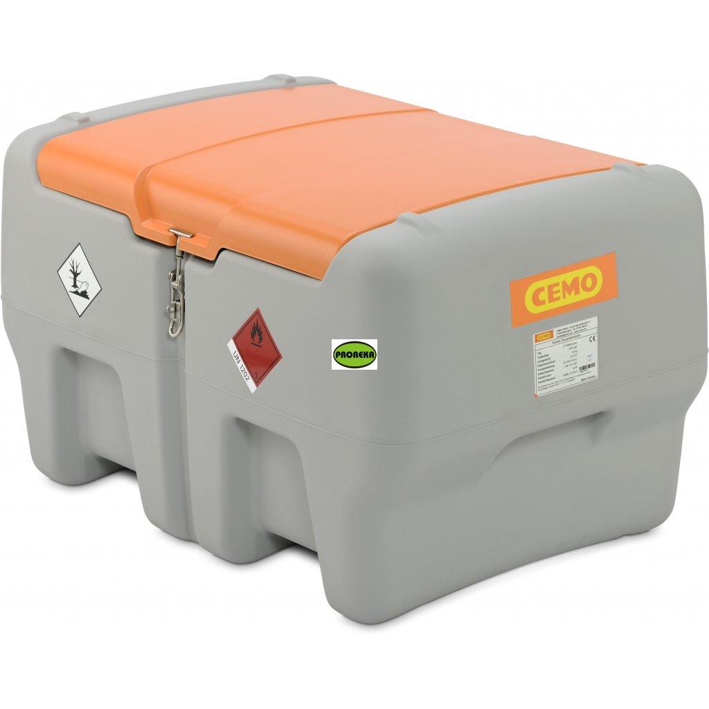 440 litrů mobilní nádrž na naftu s čerpadlem na 12V + poklop