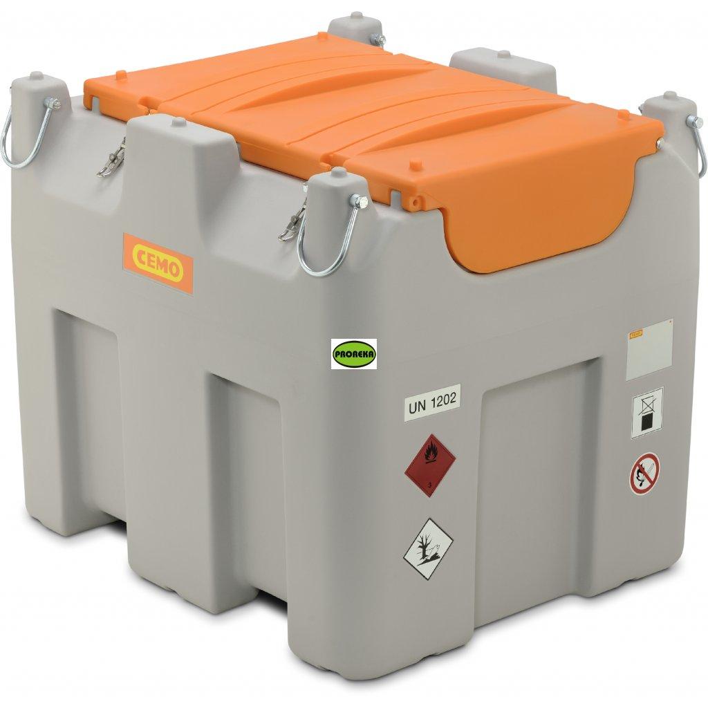980 l - DT-MOBIL Easy mobilní nádrž s ADR, 980 l Basic, Cematic Duo 24/12 V