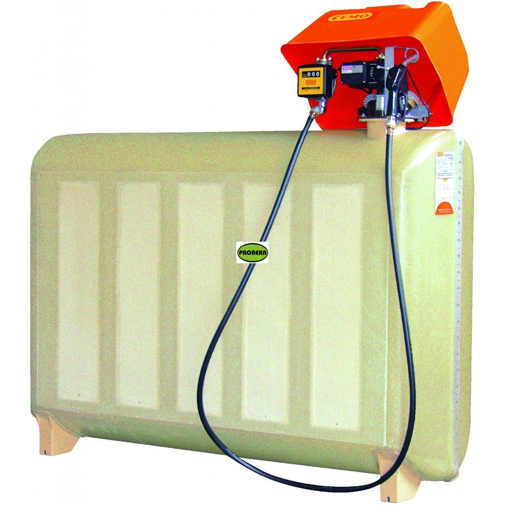 CEMO nádrž na naftu 2000 litrů GT - kompletní stacionární nádrž s výdejním zařízením