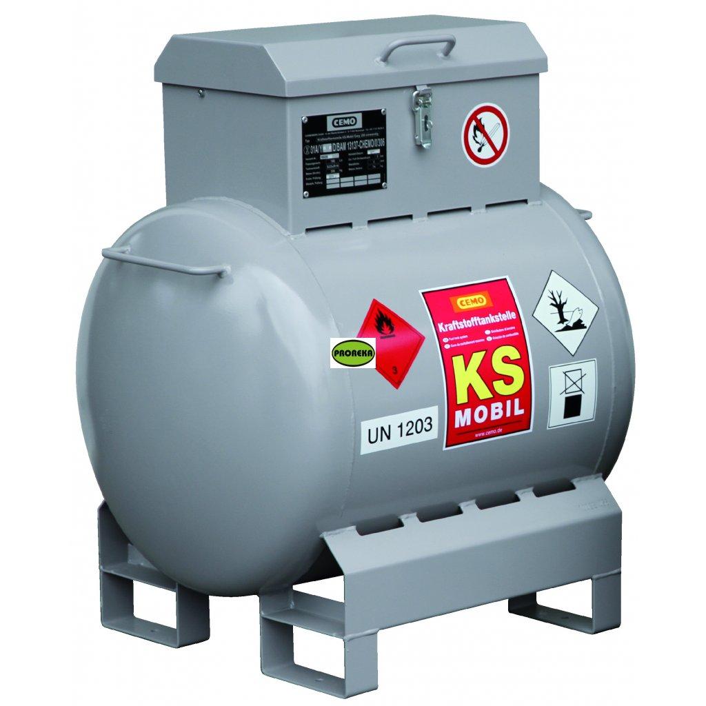 KS-Mobil nádrž na benzin, 200 litrů s ručním čerpadlem