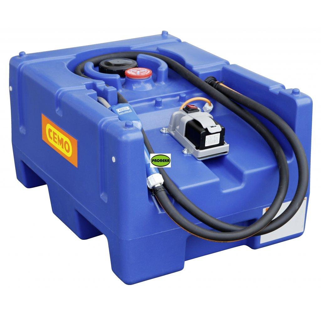 CEMO nádrž na AdBlue ®️ 125 litrů  s čerpadlem na 12V + AKU  BLUE-MOBIL EASY