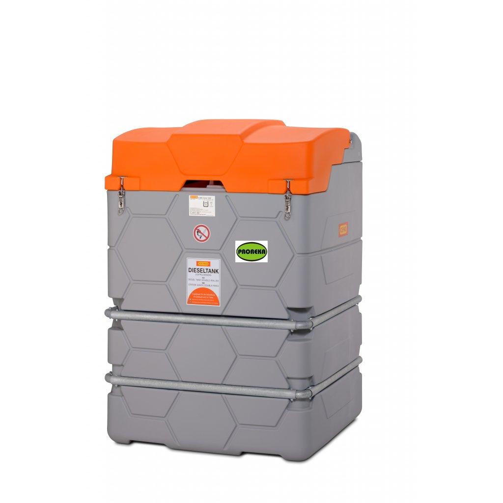 CUBE - 1500 litrů venkovní nádrž na naftu
