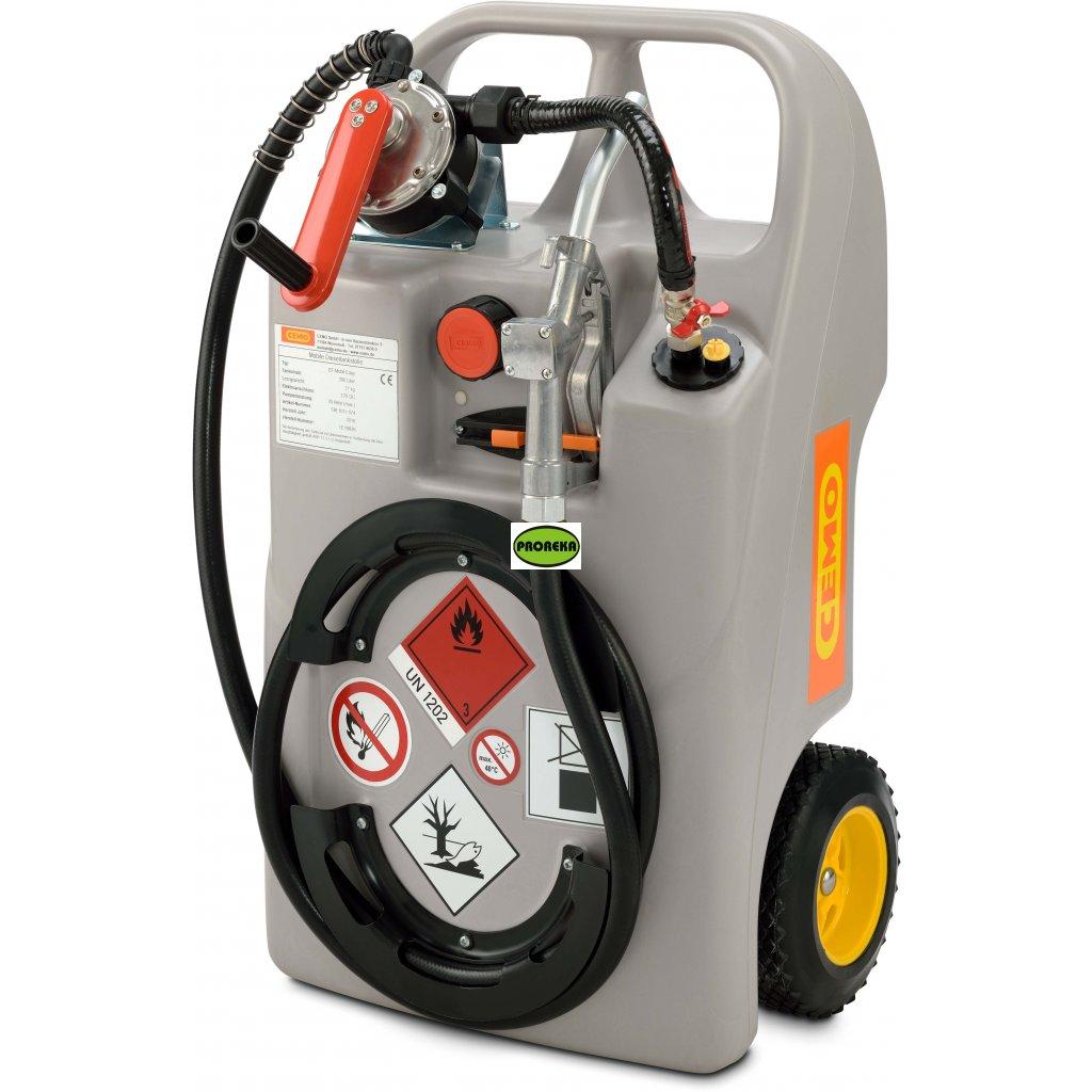 Vozík na naftu 100 litrů s čerpací pistolí (ADR) + ruční pumpa