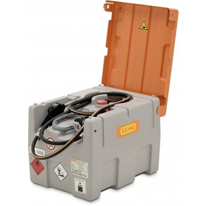 200 litrů mobilní nádrž na naftu (ADR certifikace)  24V s elektro čerpadlem