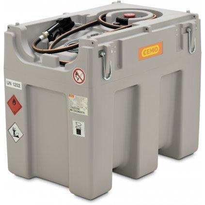 DT-Mobil Easy 600 litrů certifikace ADR s elektrickým čerpadlem 12V nebo 24V a průtokem  40 litrů/min.