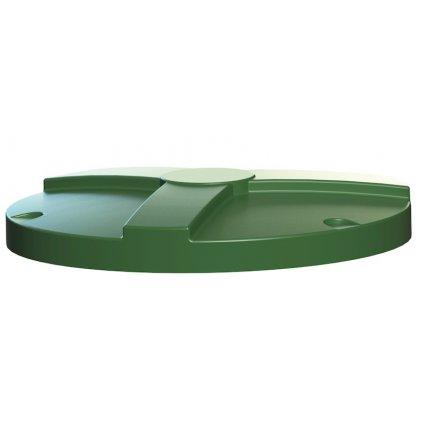 """Poklop nádrže """"Základní"""" černý/zelený"""
