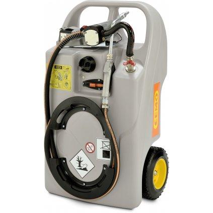 Vozík CEMO na maziva 60 litrů s čerpadlem