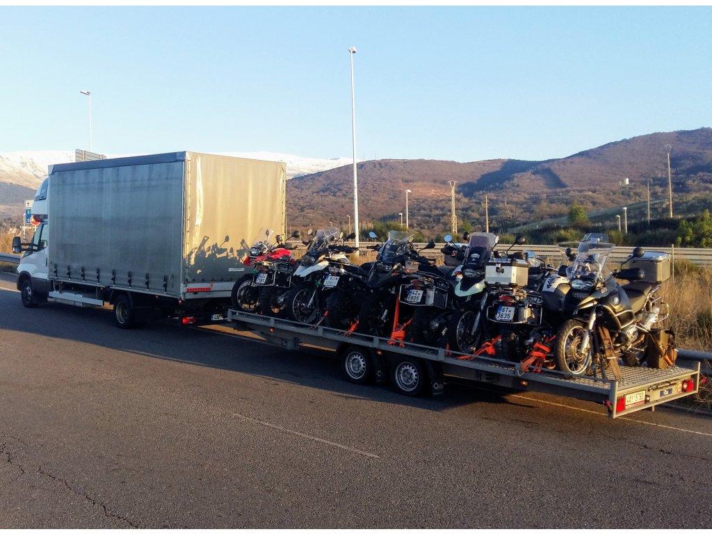 Přeprava motocyklů do Španělska 29.3-11.4.2021