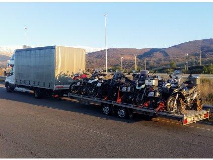Přeprava motocyklů do Španělska 4.10-17.10.2021