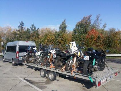 Přeprava motocyklů do Španělska 19.10-1.11.2020