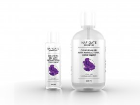 Cleansing gel with antibacterial component