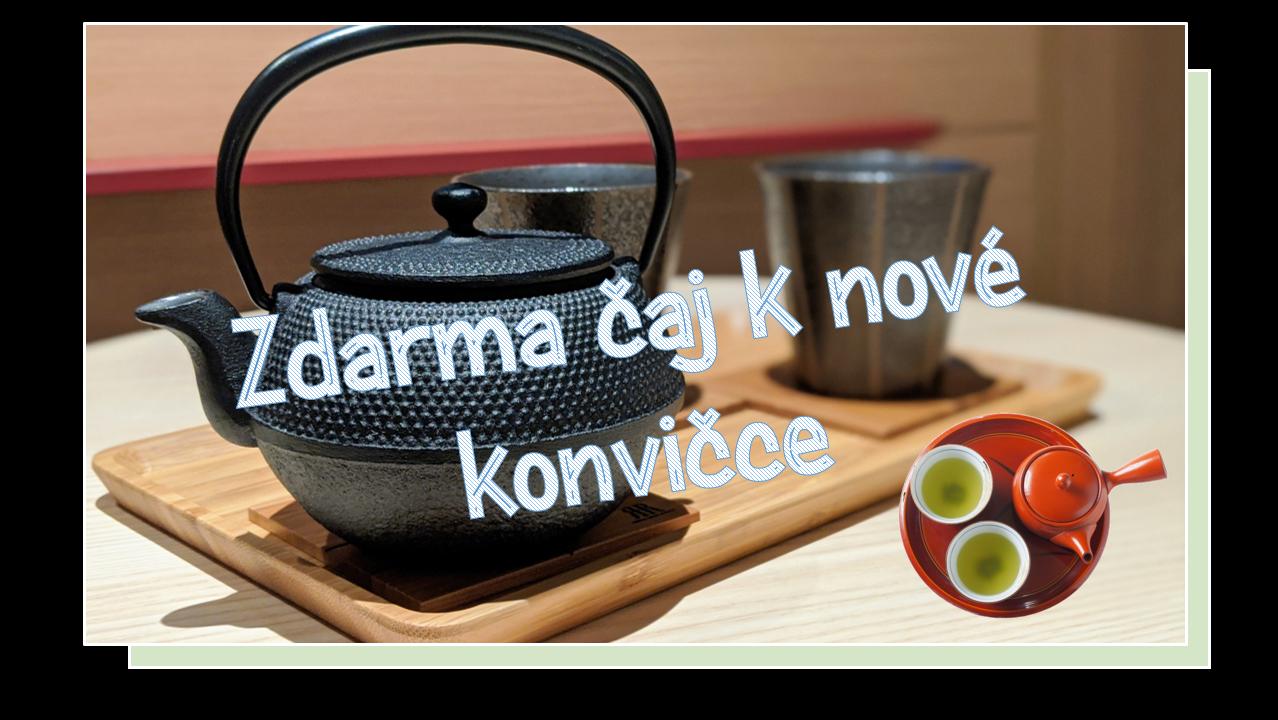 Zdarma čaj k nové konvičce