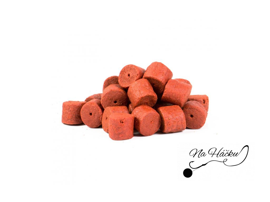 Pelety 2,5kg combo - Red fish Halibut 14mm + 100ml lososový olej