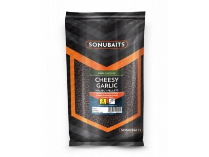 dipovane pelety sonubaits cheesy garlic halibut pellets original