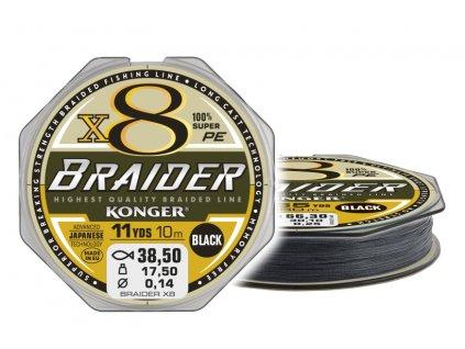 BRAIDER X8 BLACK 10m