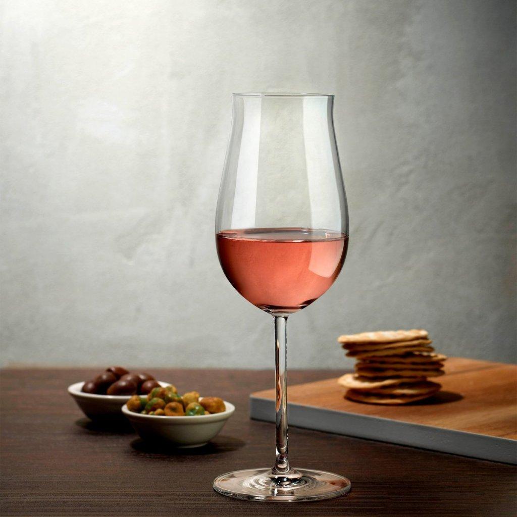 Vintage Set of 2 Rosé Wine Glasses 3
