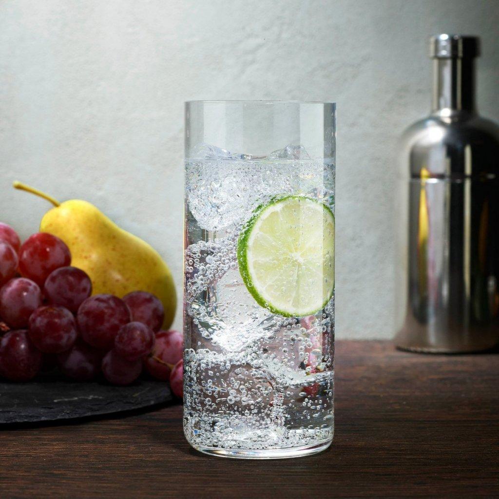 Finesse Grid Set of 4 Long Drink Glasses 2
