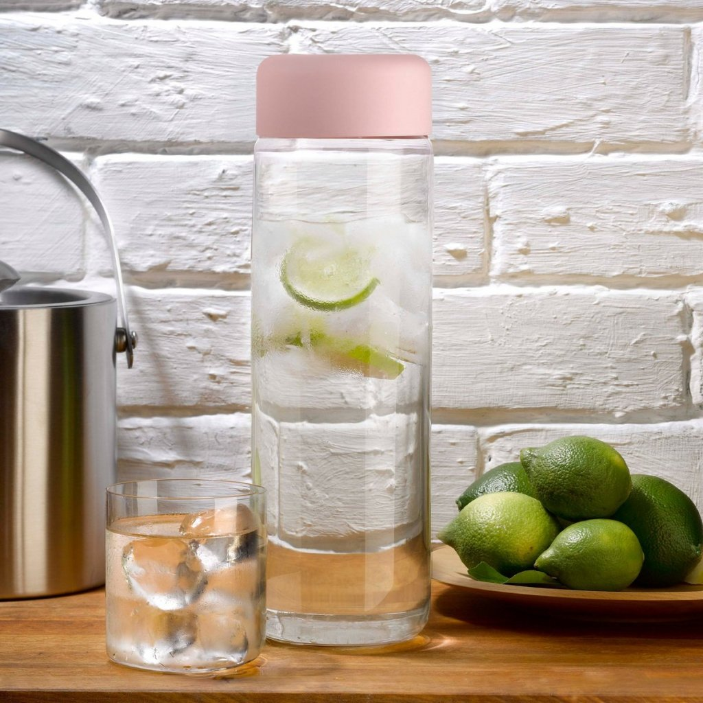 Finesse Jug with Cover Pink 2 + glass