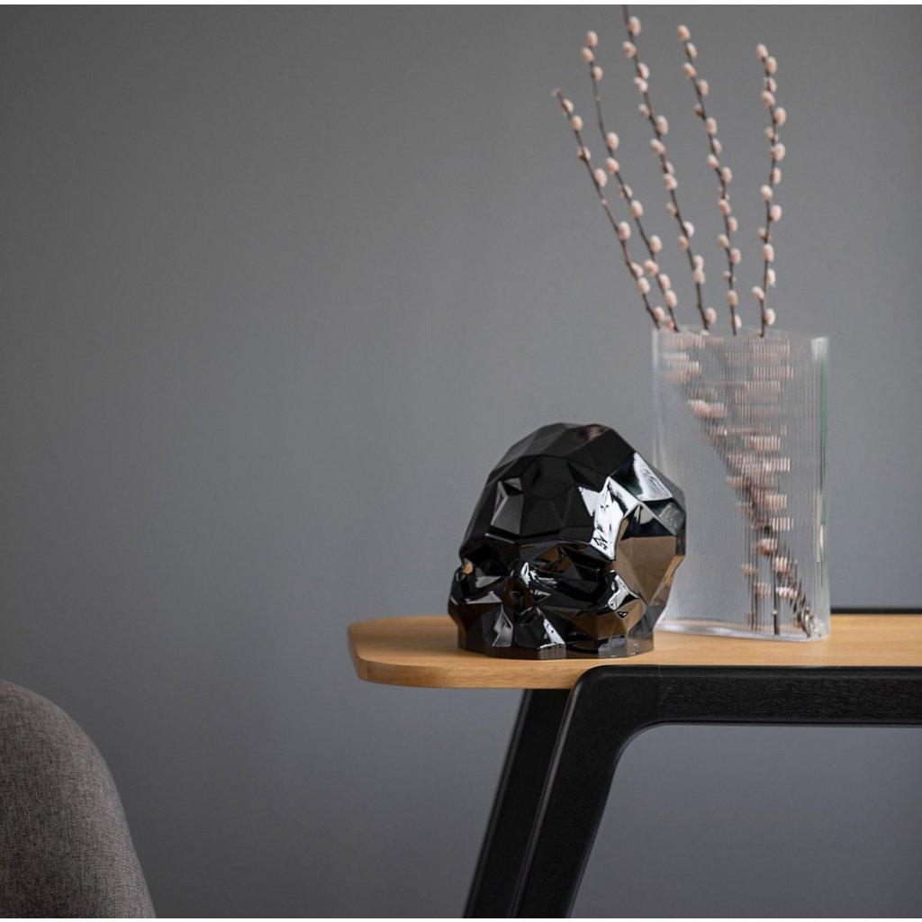 Memento Mori Faceted Skull Black Large 3