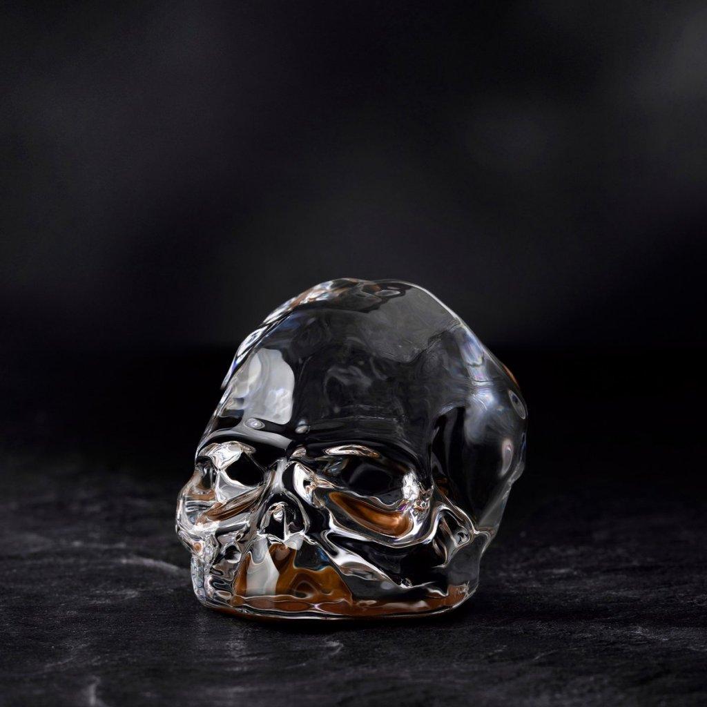 Memento Mori Faceted Skull Copper Coated Small 2
