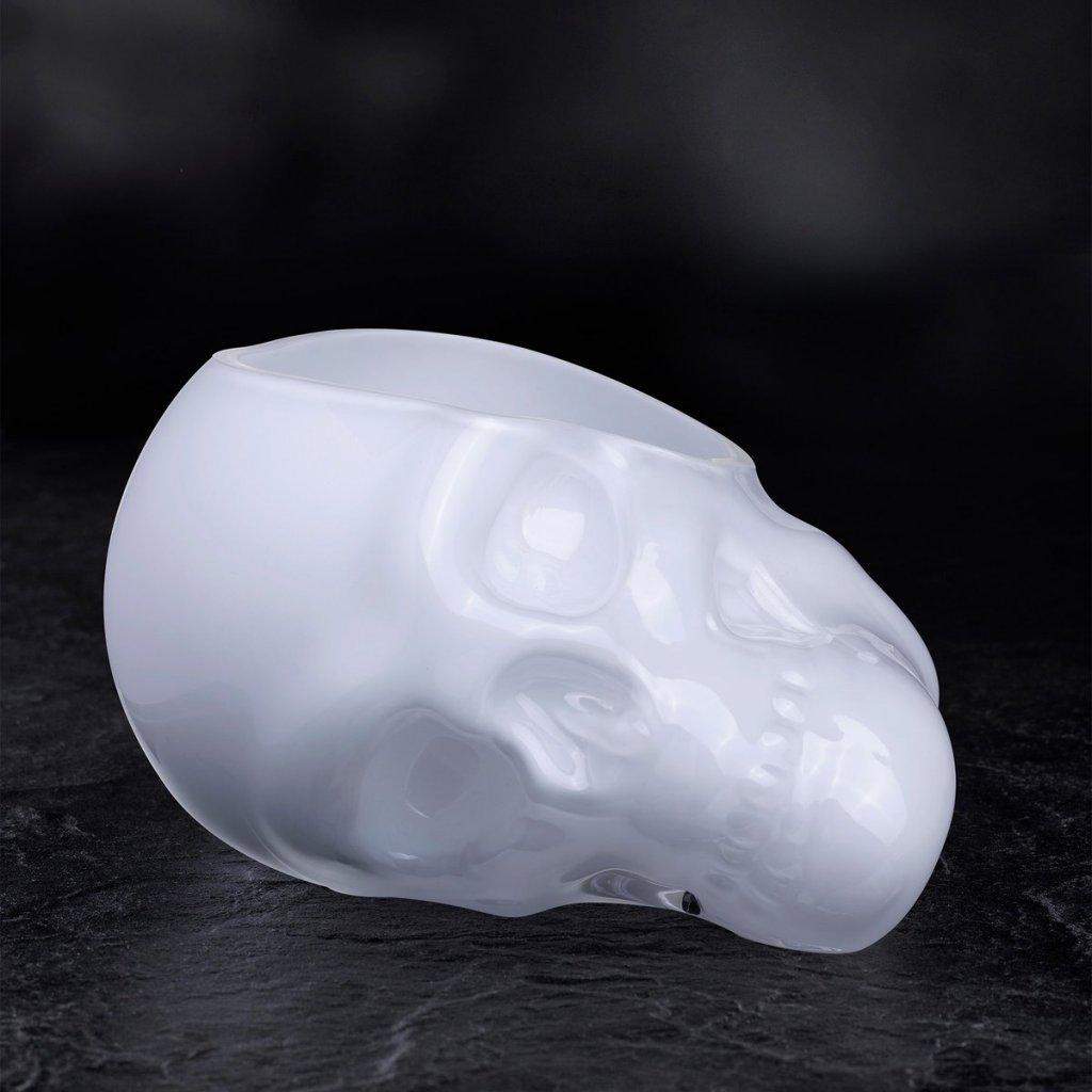 Memento Mori Faceted Skull Bowl Opal White Small 2