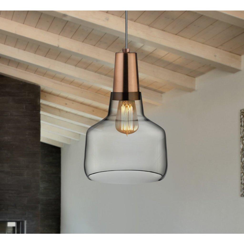 Mono Lamp Smoke with Copper Socket Small 3