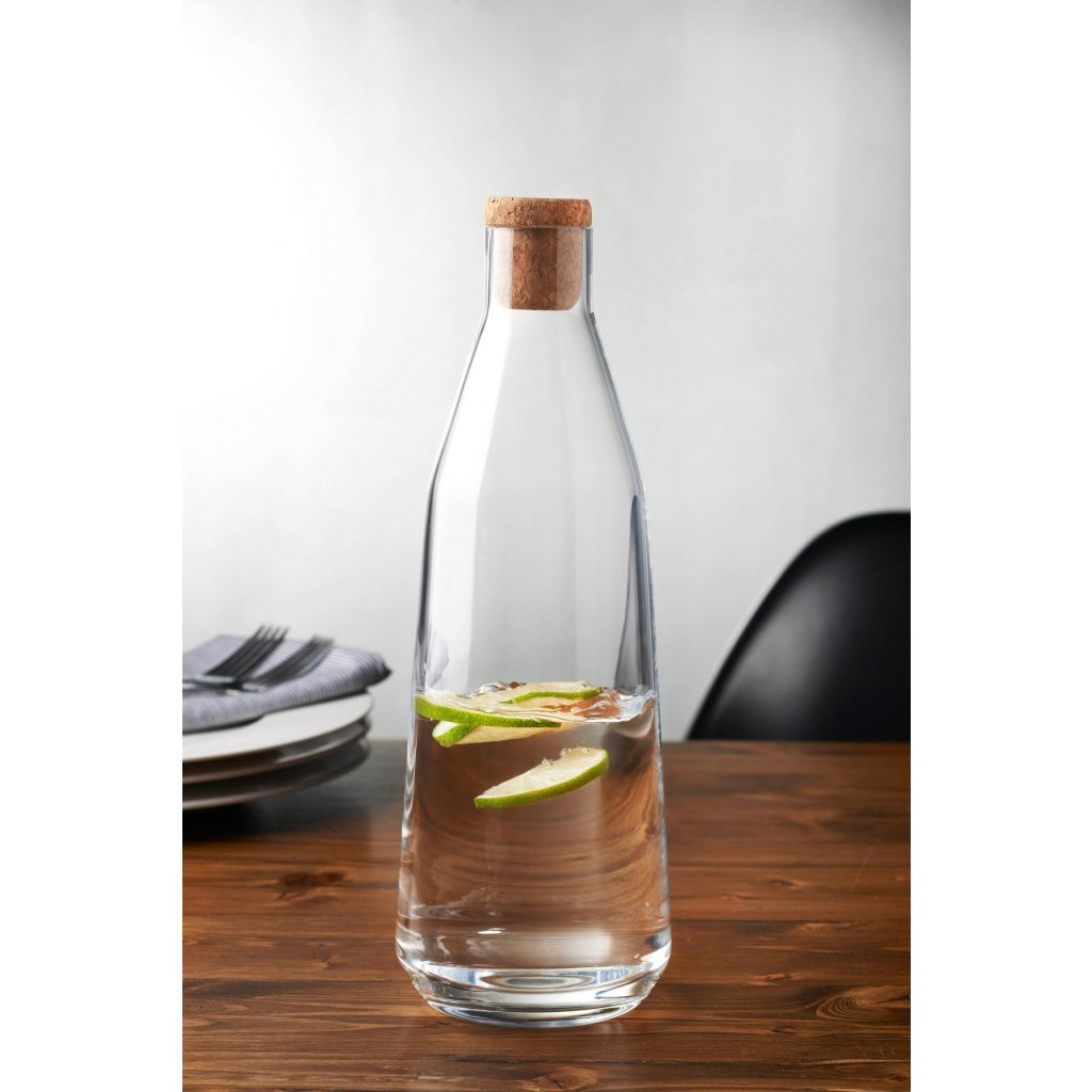 Rhythm Water Carafe Clear with Cork Stopper 3