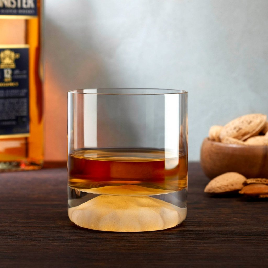 Club Ice Set of 4 Whisky Glasses with Frosted Ripple Effect 3