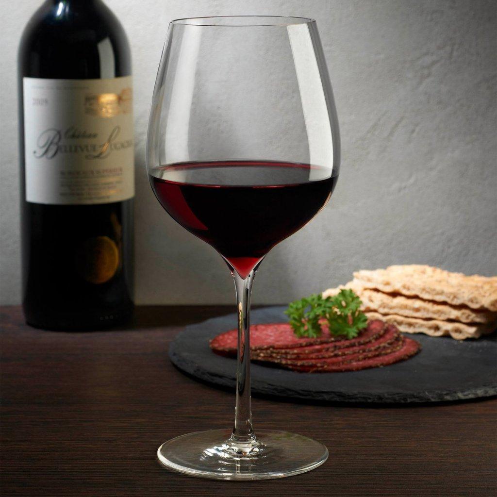 Dimple Set of 2 Elegant Red Wine Glasses 2