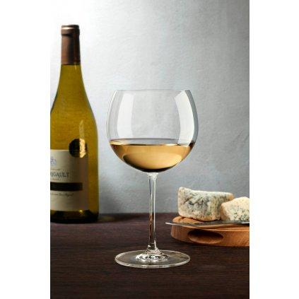 Vintage Set of 2 Bourgogne White Glasses 3