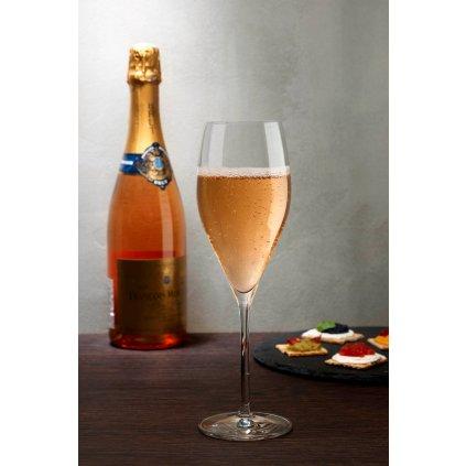 Vintage Set of 2 Champagne Glasses Rounded 3