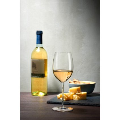 Vintage Set of 2 White Wine Glasses 3