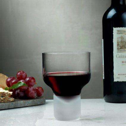 Contour Set of 2 Wine Glasses with Sandblasted Base 2