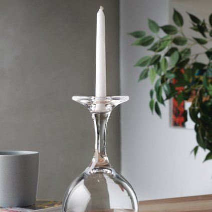 Look Down Candle Holder in Wine Glass Shape 2