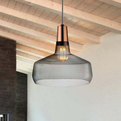 Mono Lamp Smoke with Copper Socket Wide 2