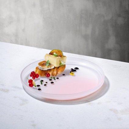 Pigmento Serving Dish 22 cm Pink Sprayed 3