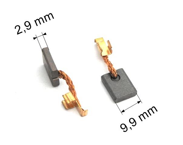 024 uhlíkové kartáče 2,9 x 9,9 mm