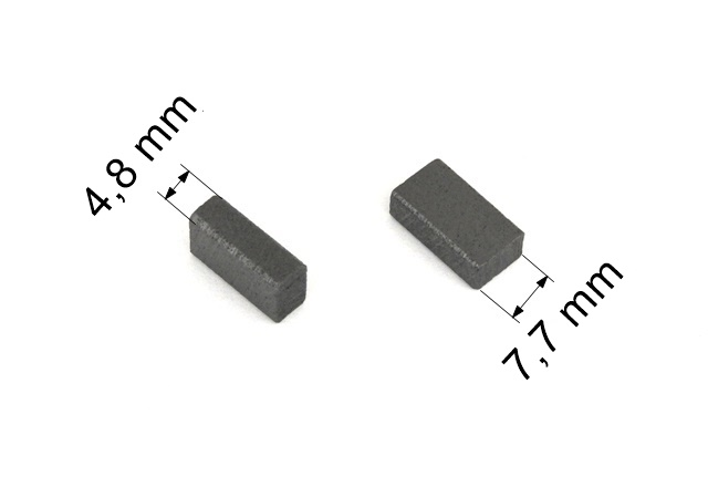 037 uhlíkové kartáče 4,8 x 7,7 mm