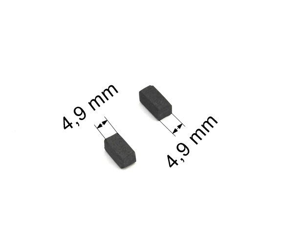 052 uhlíkové kartáče 4,9 x 4,9 mm