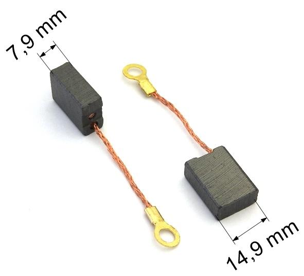 109 uhlíkové kartáče 7,9 x 14,9 mm