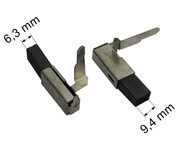 116 uhlíkové kartáče 6,3 x 9,4 mm
