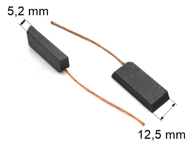 312 uhlíkové kartáče 5,2 x 12,5 mm