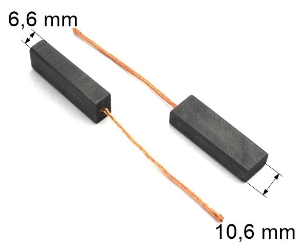 310 uhlíkové kartáče 6,6 x 10,6 mm