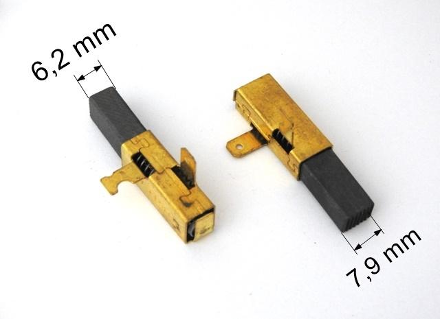 054 uhlíkové kartáče 6,2 x 7,9 mm