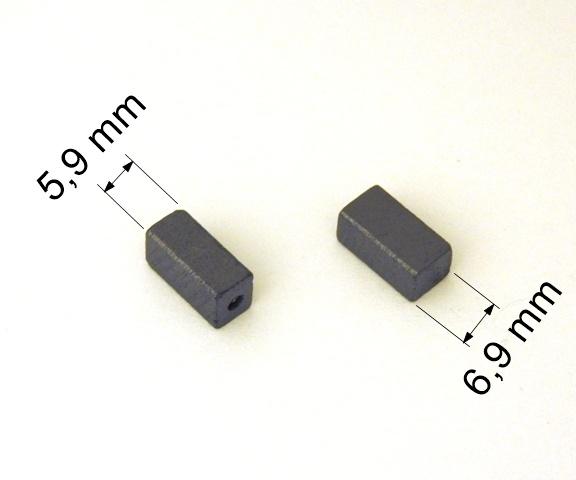 079 uhlíkové kartáče 5,9 x 6,9 mm