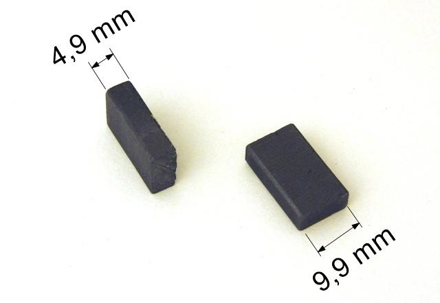 089 uhlíkové kartáče 4,9 x 9,9 mm