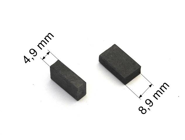 127 uhlíkové kartáče 4,9 x 8,9 mm