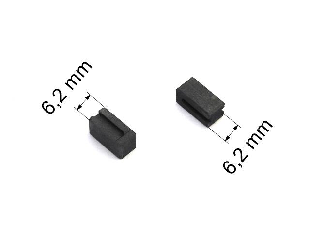 163 uhlíkové kartáče 6,2 x 6,2 mm